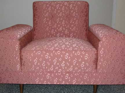 1950s chair reupholstered