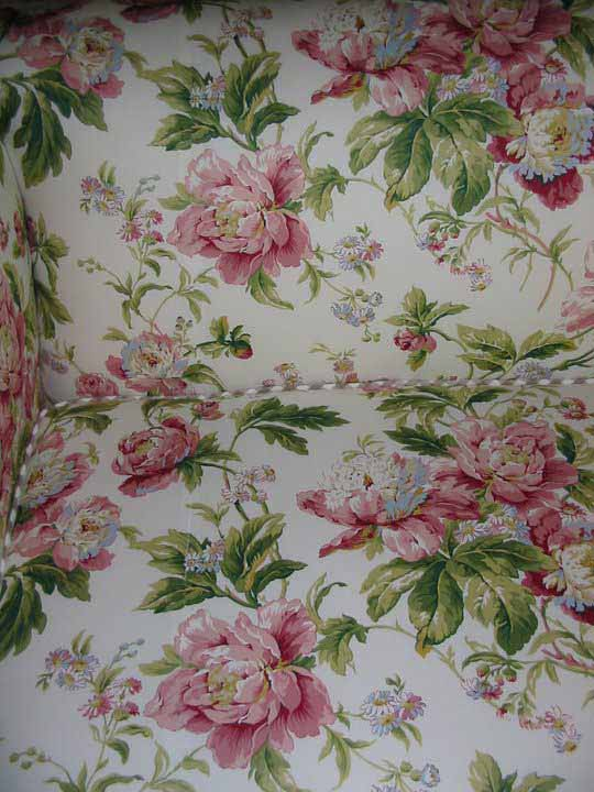 floral print fabric seam matched