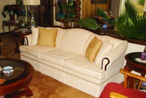 ultra-suede couch in client's home