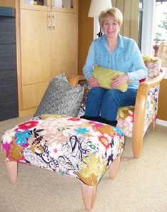 happy upholstery client of Handy Ann