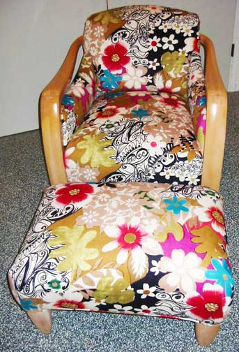 chair in floral fabric - Upholstery Fabric For Chairs