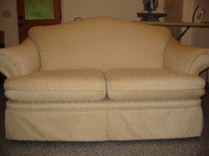 Upholstered love seat